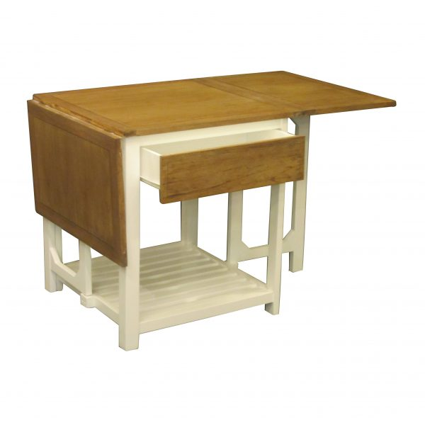 Flap Top Table with Base and Drawer
